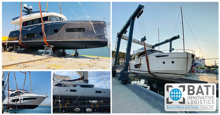 Latest Yacht Transports Performed by BATI Group
