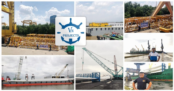 VN Projects Performed Barging, Port Handling, Customer Clearance and Rigging for Near Shore Wind Power Projects