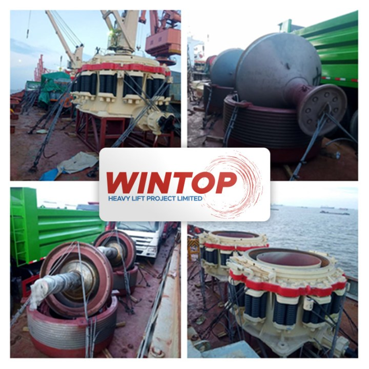 Wintop Heavy Lift Loaded Machinery by Breakbulk in Shanghai Destined for Tema, Ghana