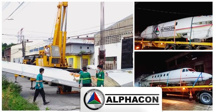 ALPHACON (Philippines) Performed the Lift-on, Lift-off, Lashing, Inland Transport and Spotting of an Aircraft