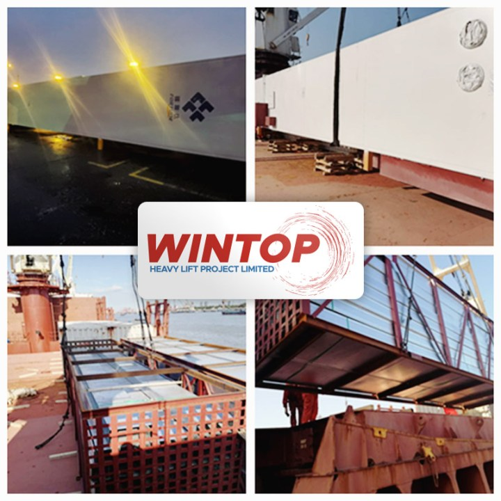 Wintop Heavy Lift Shipped 12 Crates Weighing a Total of 1,878 mt from Shanghai to Ho Chi Minh City