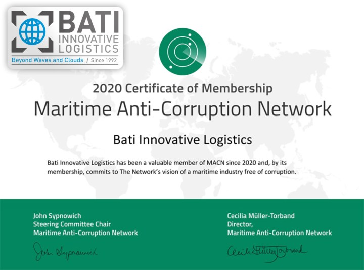 BATI Innovative Logistics Proudly Announces the Acceptance to MACN (the Maritime Anti-Corruption Network)