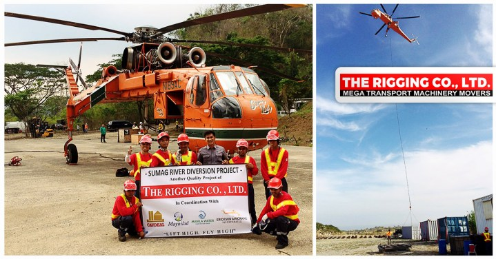The Rigging Co Completes Aerial Lifting Works for a Water Diversion Project
