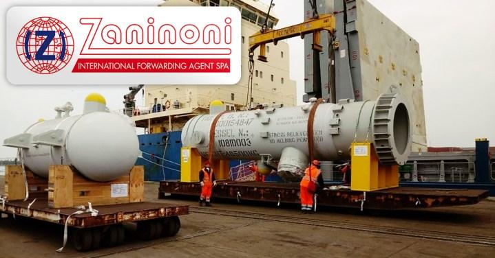 Zaninoni Shipped a 48mt Heat Exchanger and 18mt Pressure Vessel to Egypt