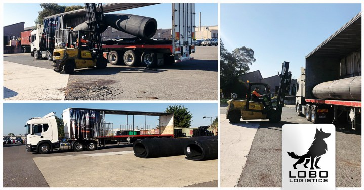 Lobo Logistics Transported these 7 Meter Long Rolls 3,451 km ex Melbourne to Western Australia