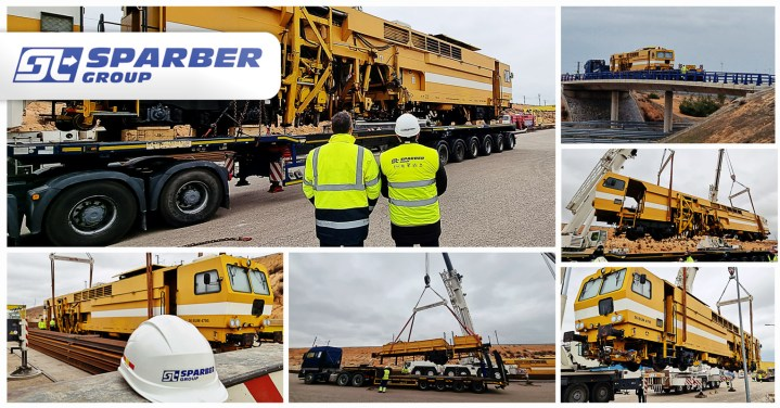 Sparber Group Transported 76 Ton Rail Equipment from Spain to Croatia