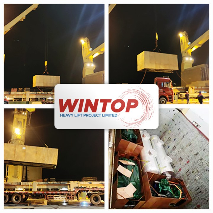 Wintop Heavy Lift Shipped an Injection Molding Machine, Magnetic Template and Accessories from Taicang to Houston