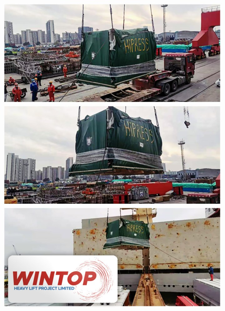 Wintop Heavy Lift Shipped High Precision Compact Power Presses from Shanghai to Houston