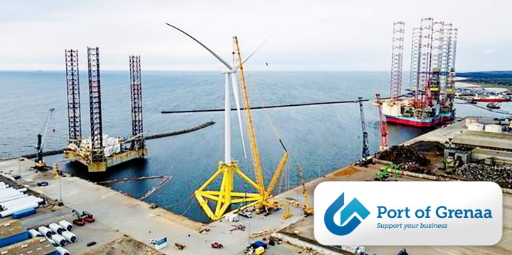 Grenaa Port Impressive floating wind power flagship ready for sail-out from Port of Grenaa, Denmark