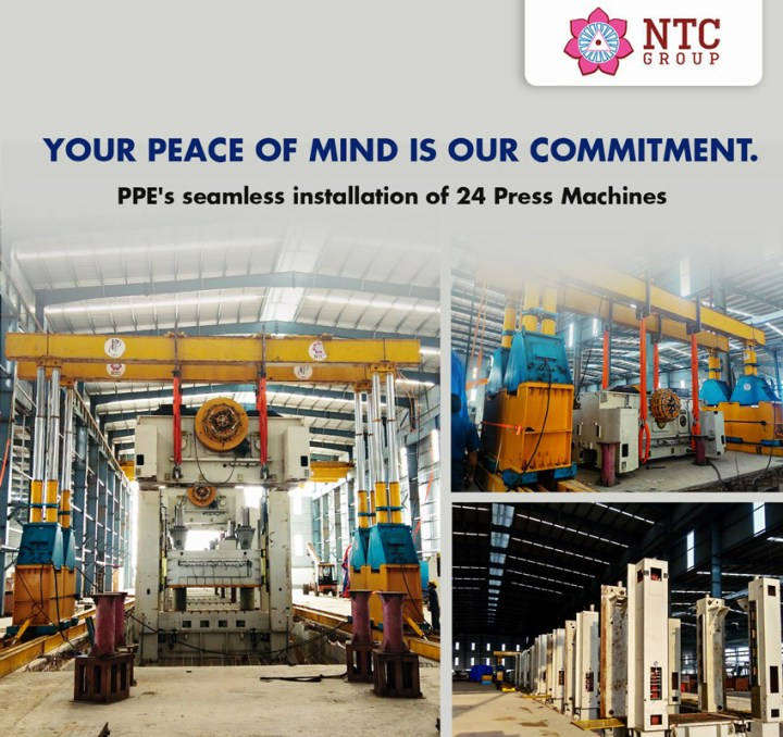 NTC Group's Engineering Solutions (PPE) Installed 24 Press Machines for a 3-Wheeler Body Shop in Hosur, India