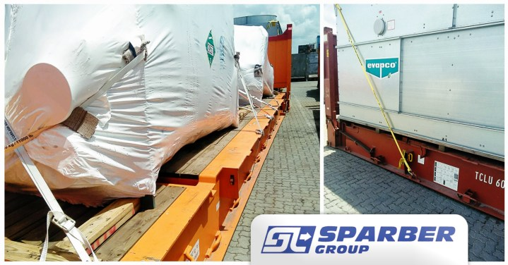 Sparber Group Transported Cooling Towers on 2 x 40FR for the Hotel Sector from Italy to the Dominican Republic