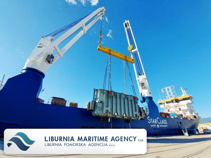 Liburnia Chartered & Loaded mv Eemslift Hendrika with 2x235mt of Transformers