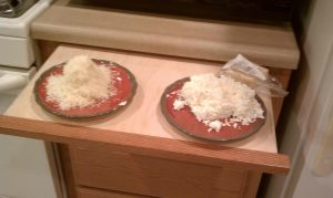 Only half of the cheese we used