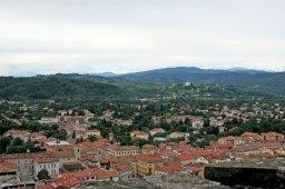 view from Castello di Gorizia