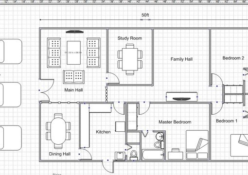 draw a simple floor plan for your dream house