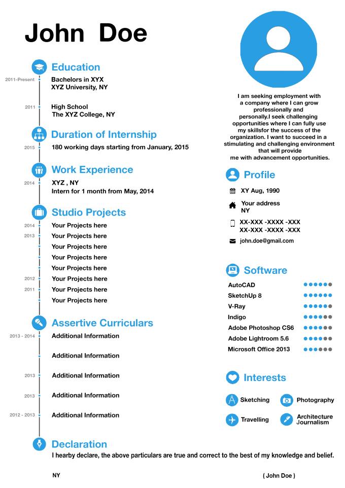 best attractive resume templates