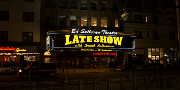 picture of late show banner