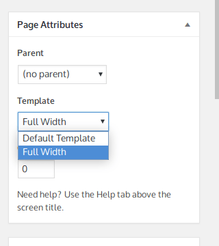 How to remove sidebar from one page but not other pages