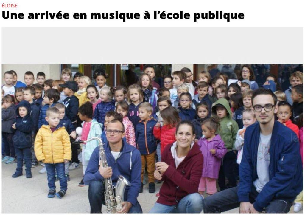 Photo des musiciens de la CdU à la rentrée des classes d'Eloise