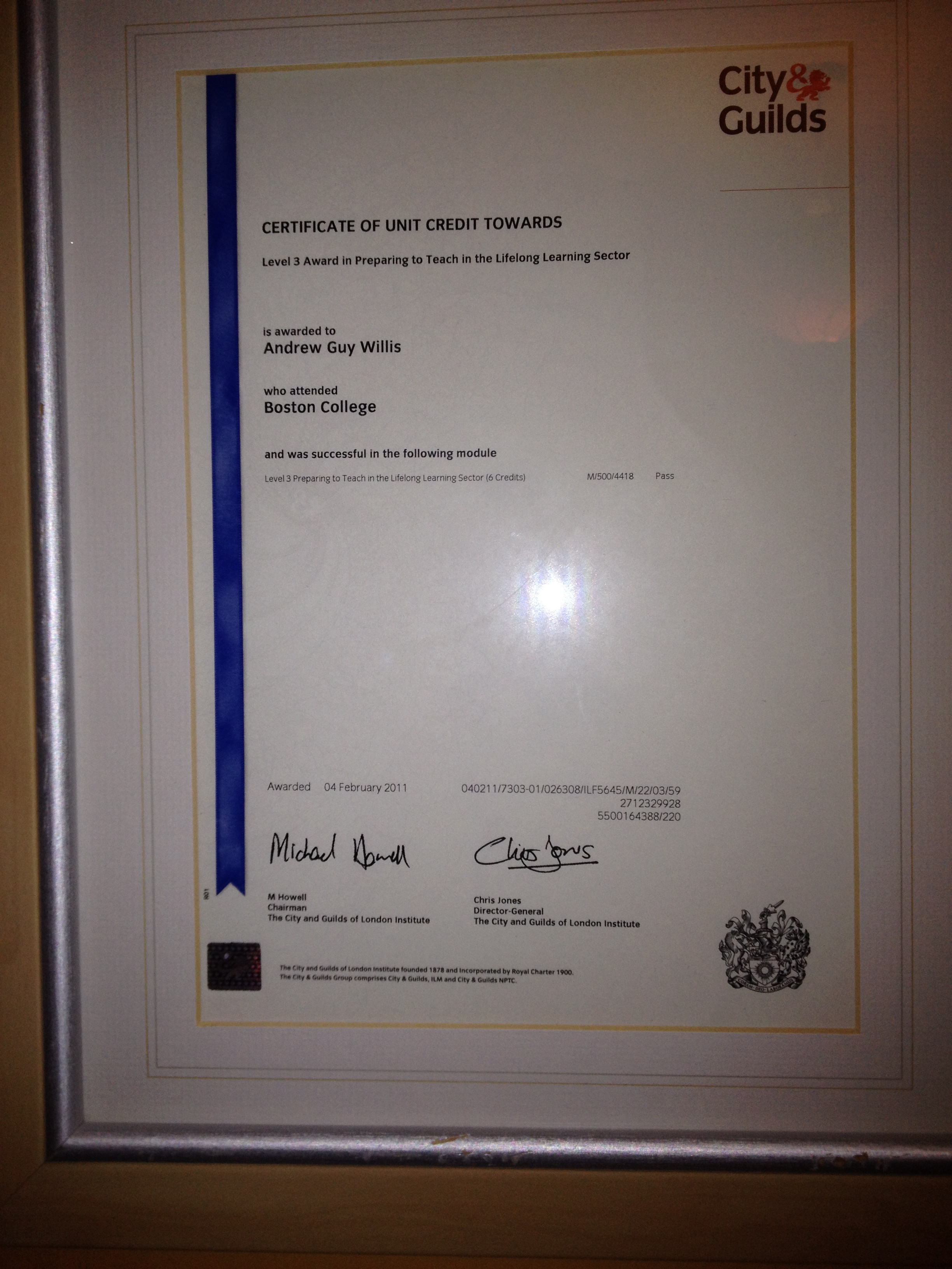 City and Guilds Level 3 PTTLS Trainer
