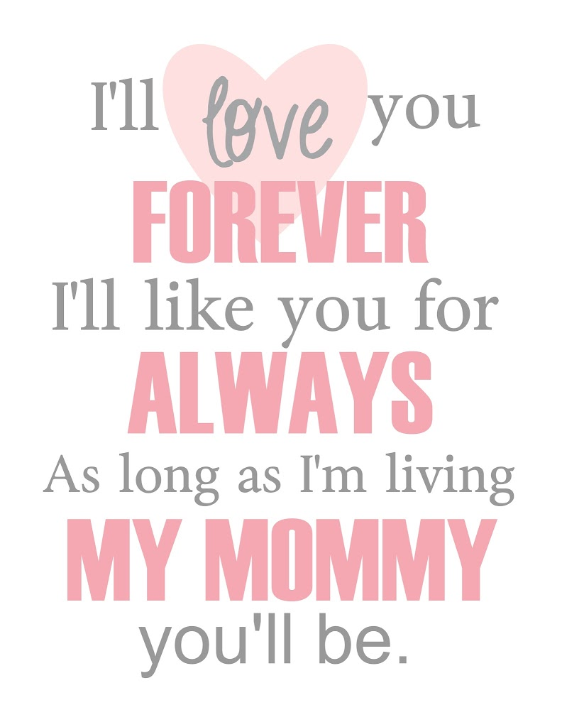 My Baby You Ll Be : Forever, Mother's, {Free, Printable}, Clean, Scentsible