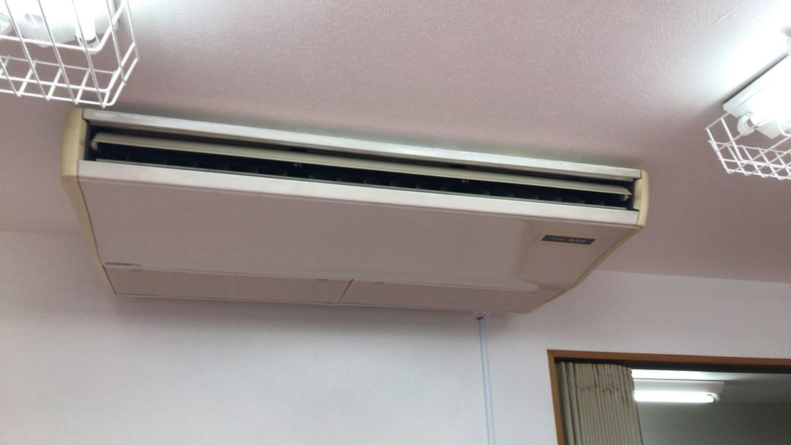 天吊りタイプのエアコン