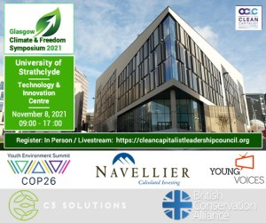climate and freedom symposium nov 8th 2021 at university of strathclyde 09:00hrs