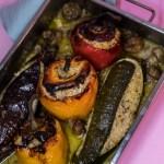 Gefülltes Quinoa Gemüse aus dem Backofen
