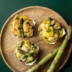 Frittata mit grünem Spargel und Mangold