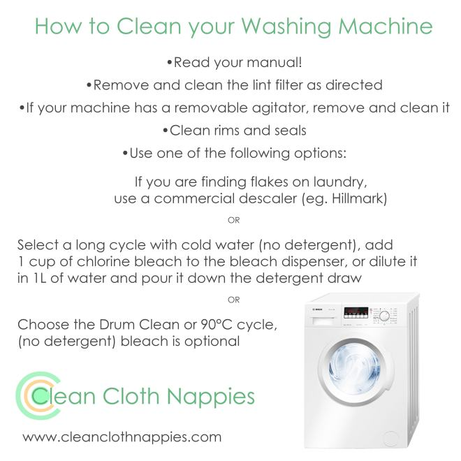How To Clean Your Washing Machine Clean Cloth Nappies