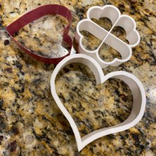 Heart cookie cutters I used for date energy bars