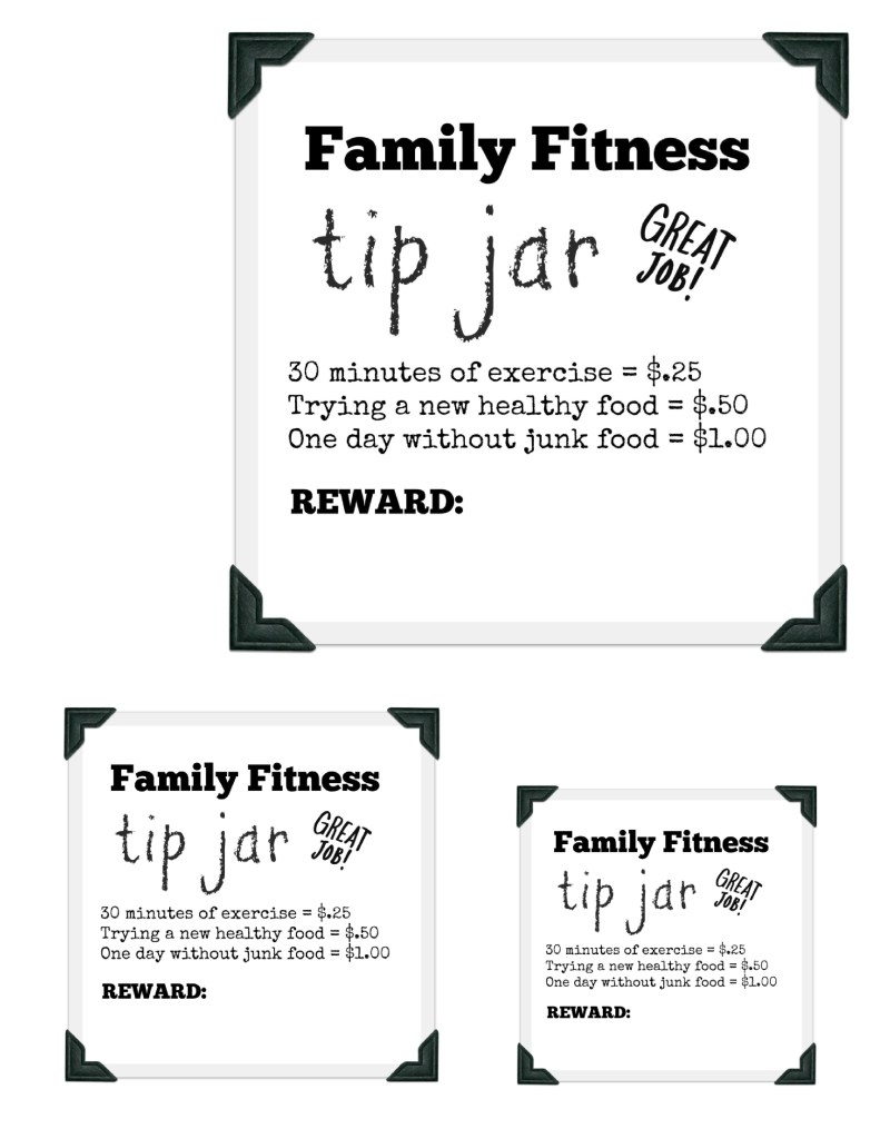 Family Fitness Tip Jar