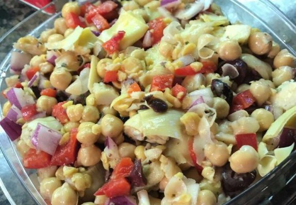 Greek Chickpea Artichoke Salad