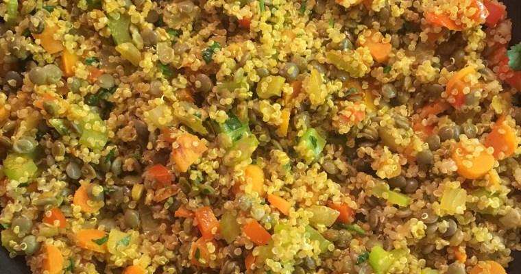 Quinoa-Lentil Pilaf