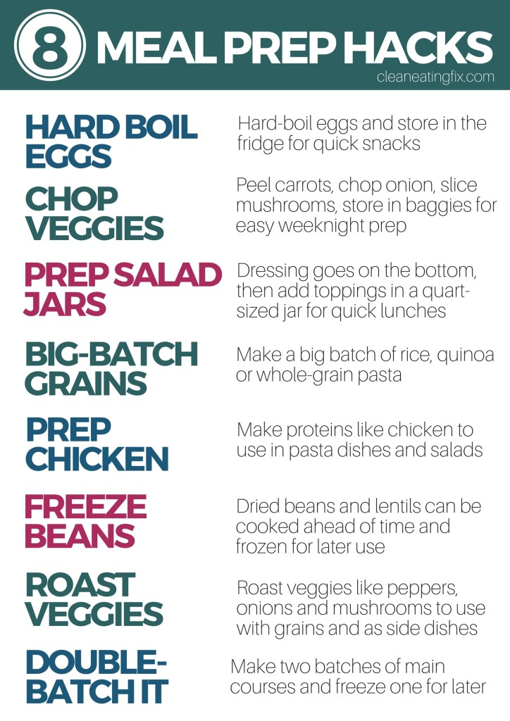 8 MEAL PREP TIPS AND TRICKS