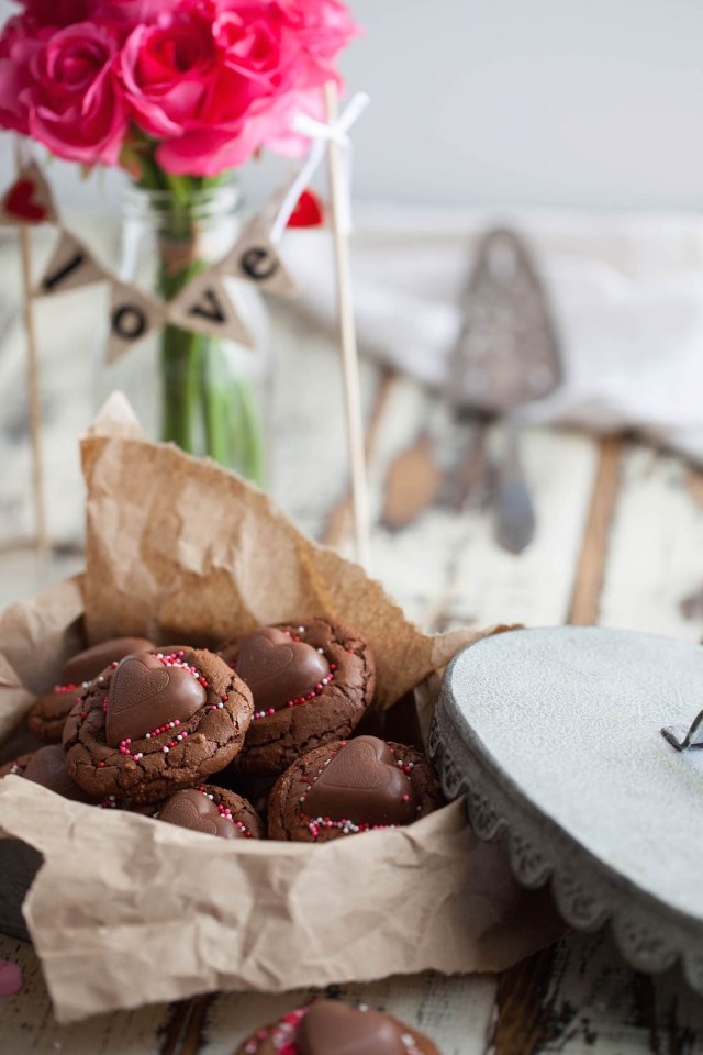 Brownie Heart Cookies