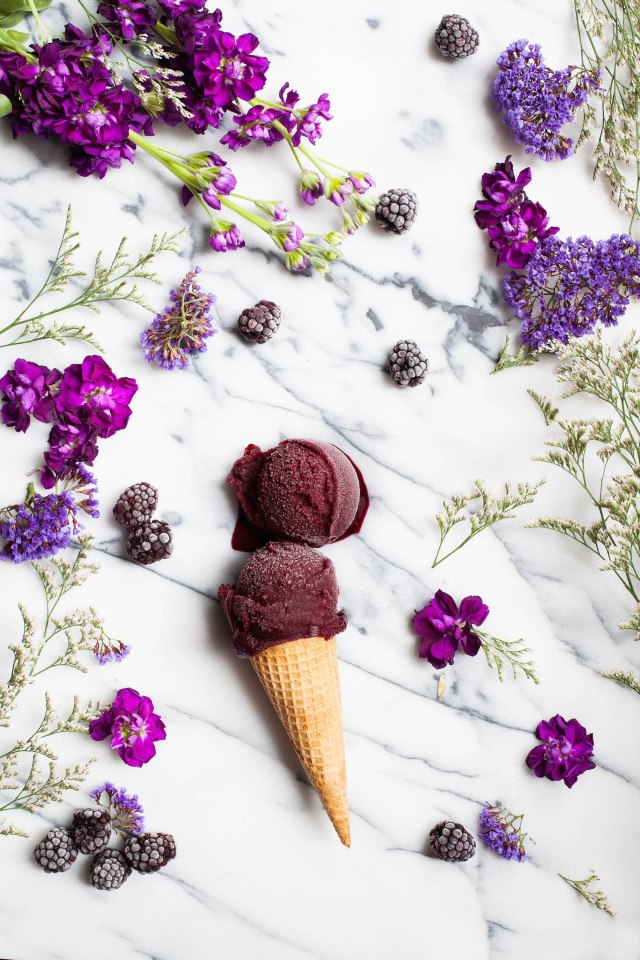 Blackberry Cabernet Sorbet