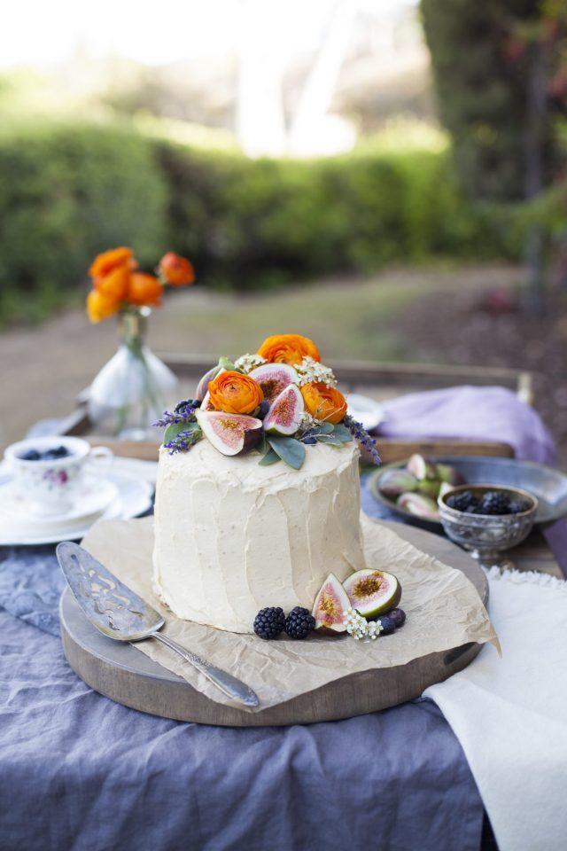 Caramel Maple Fig Cake