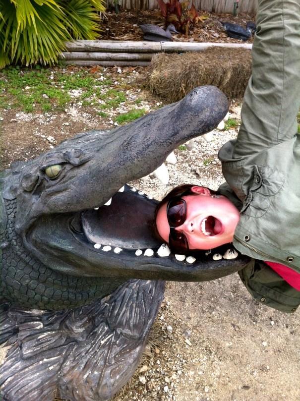 Meg and Gator