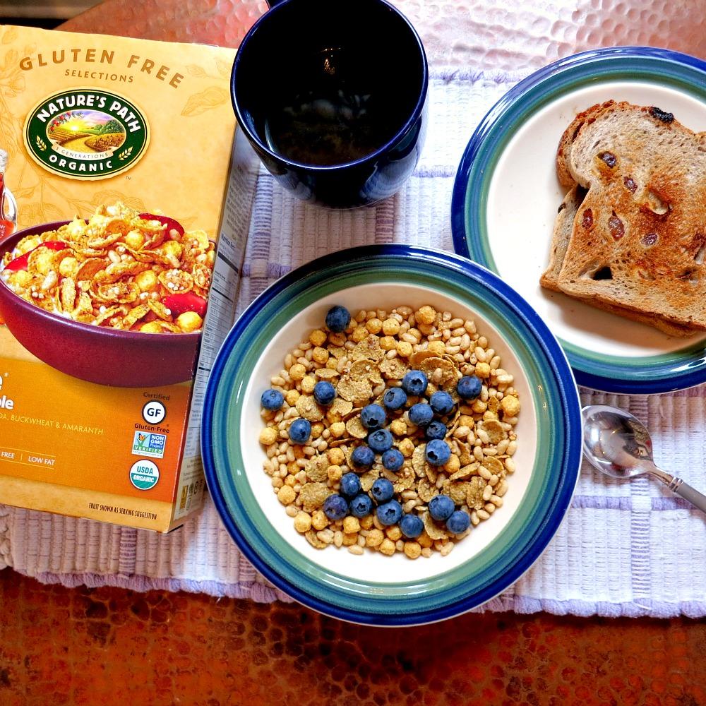 Cereal and Cinnamon Raisin Toast