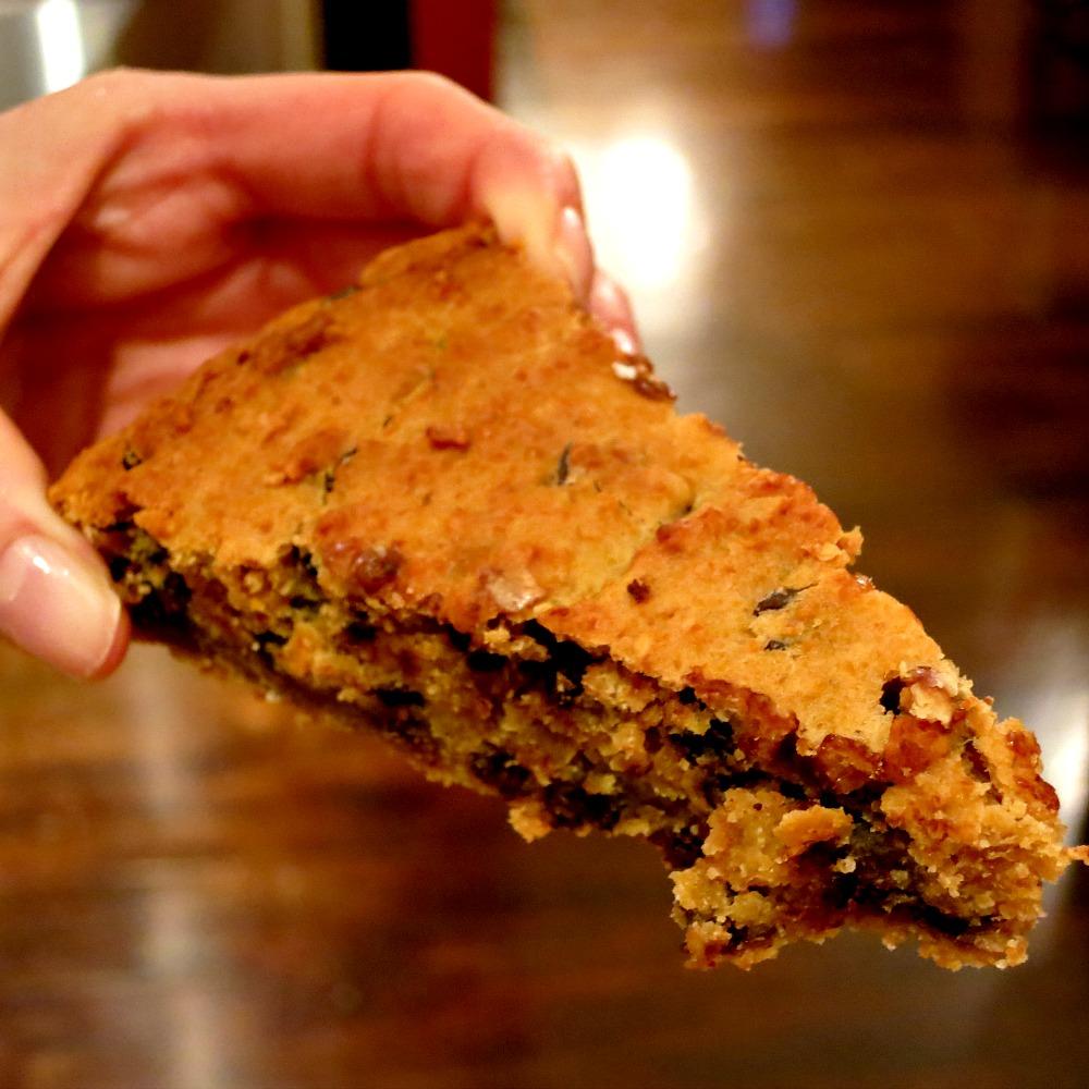 Chocolate Chip Cookie Pie Slice
