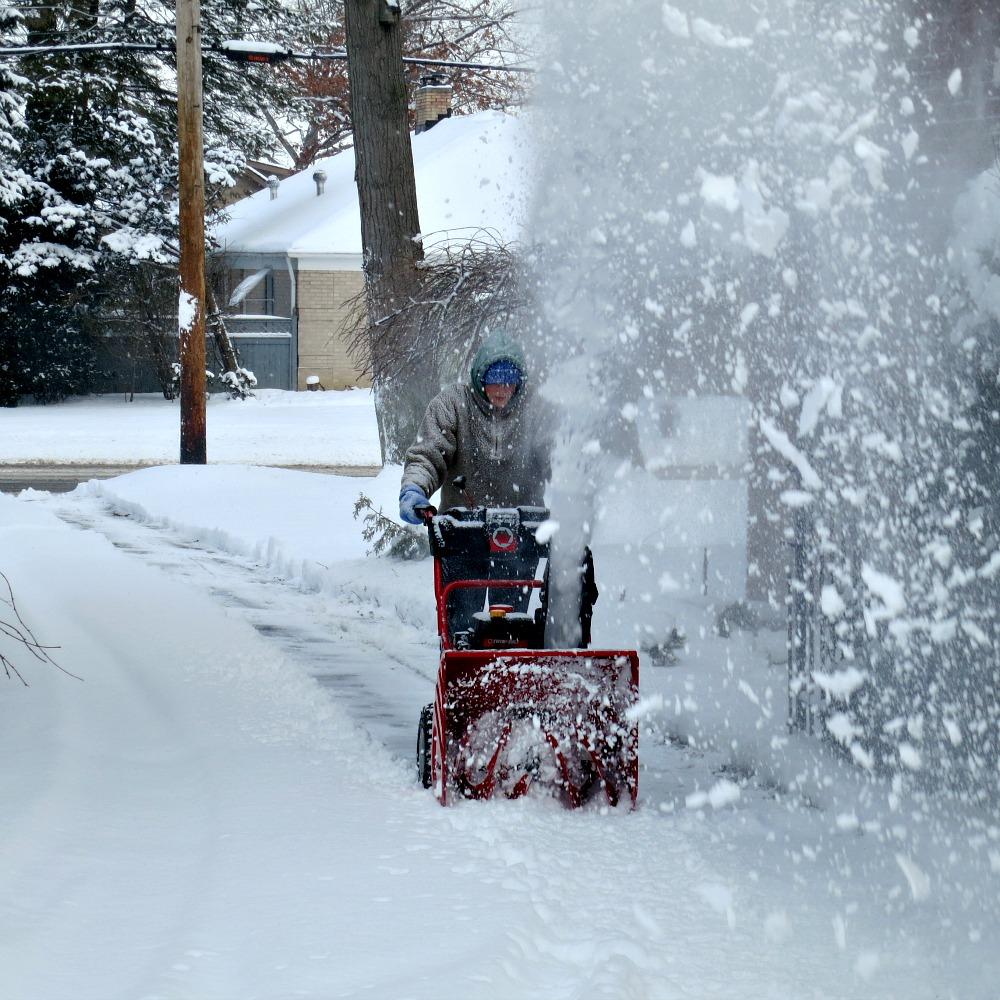 Meghan Snow Blowing