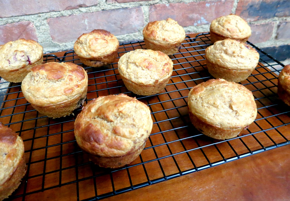 Squash Blackberry Oat Muffins