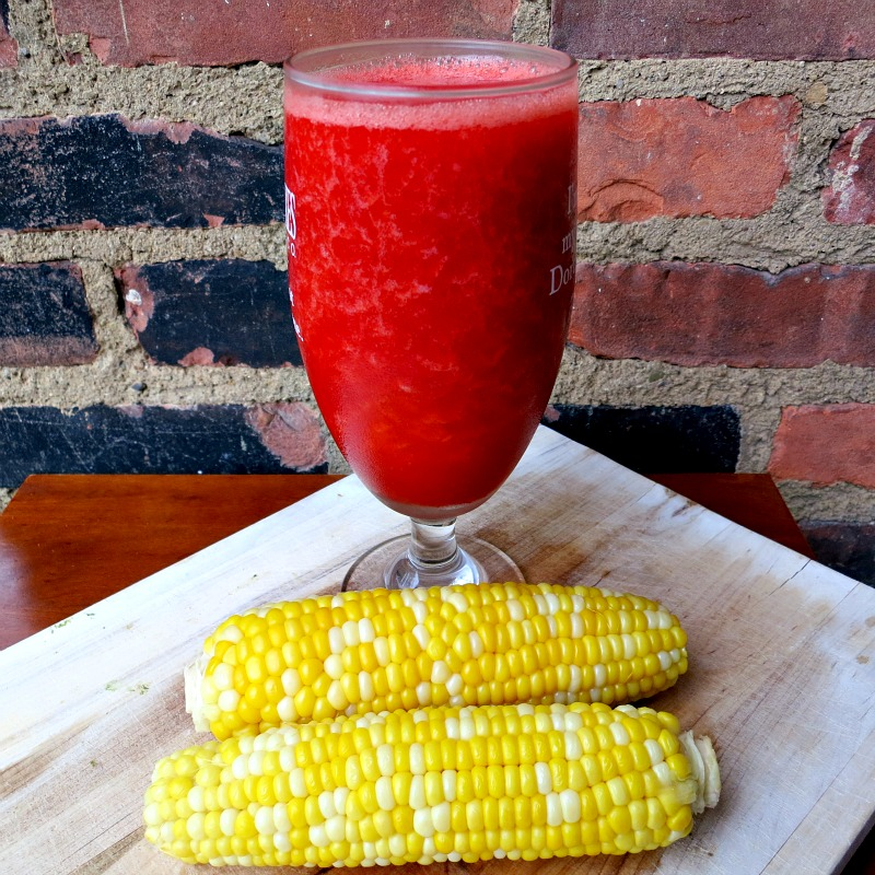 Corn and Strawberry Tequila Lemonade