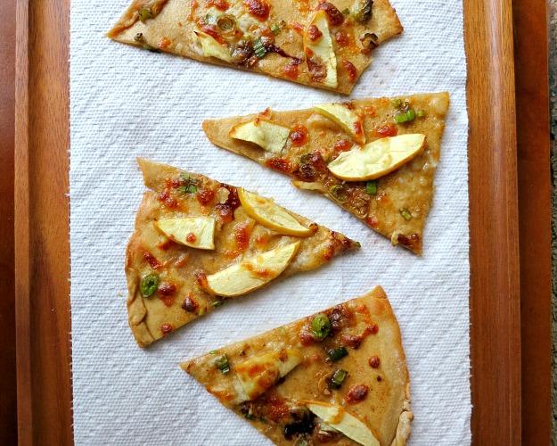 Apple Green Onion Pizza