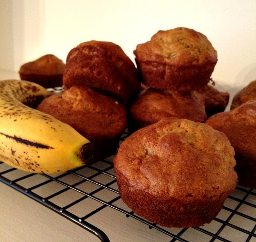 Banana Muffins Run With Spoons