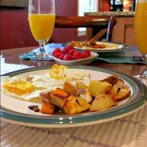 CSA Eggs, Potatoes, and Fruit