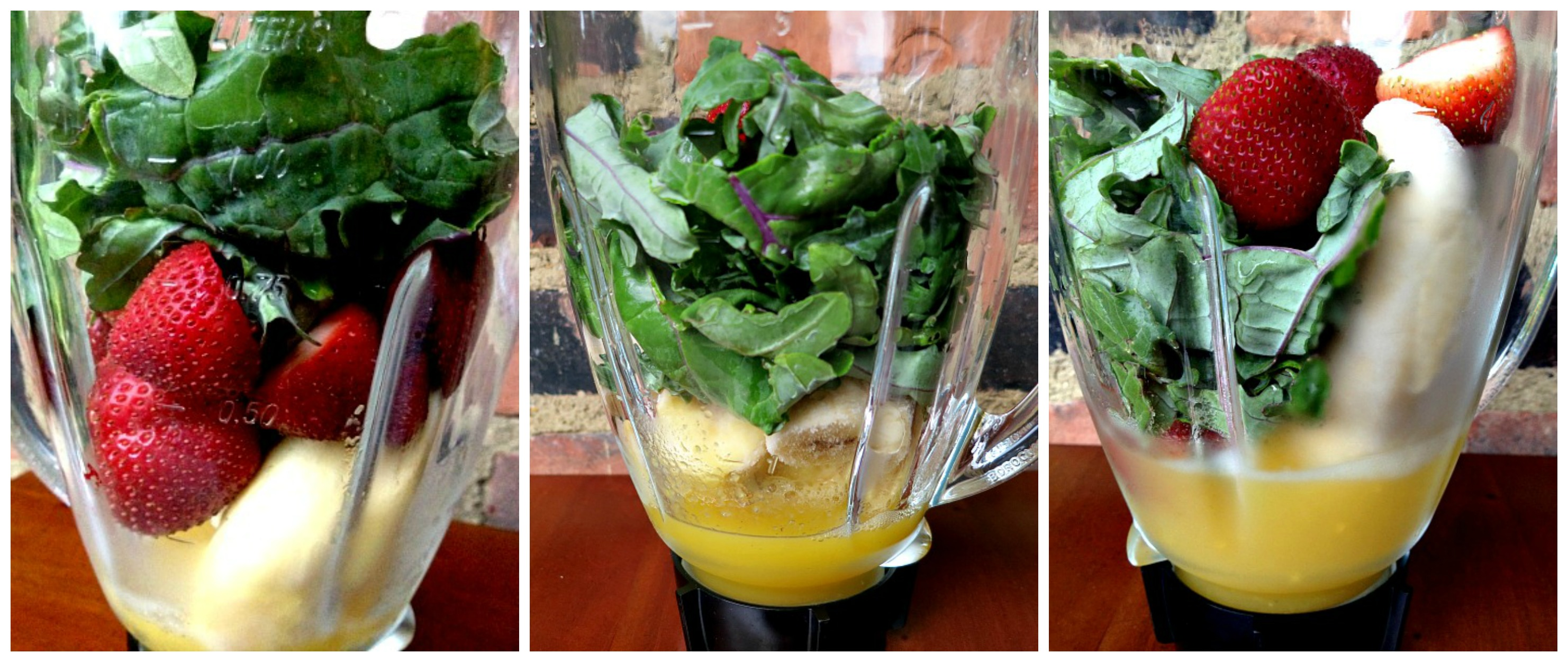 Kale Smoothie Collage