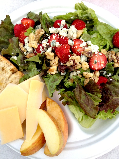 Picnic Salad with Strawberries