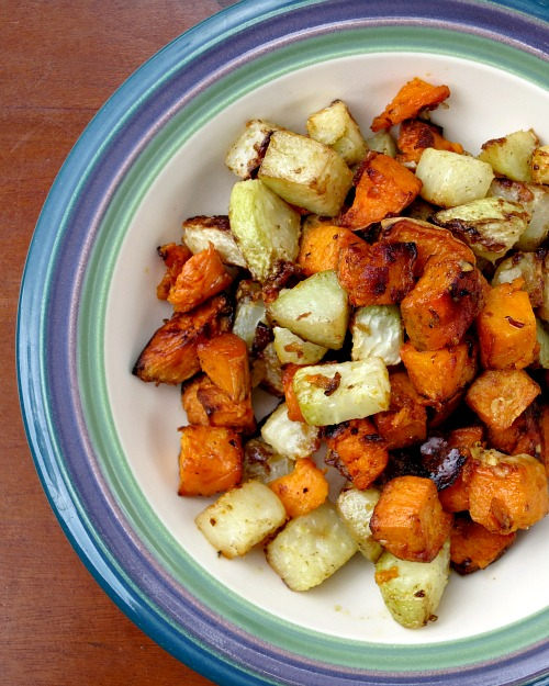 Roasted Kohlrabi and Sweet Potatoes b